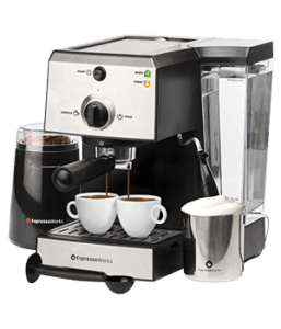 7 Pc All-In-One Espresso Machine & Cappuccino Maker Barista Bundle