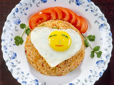 Vegetable Rice With Eggs