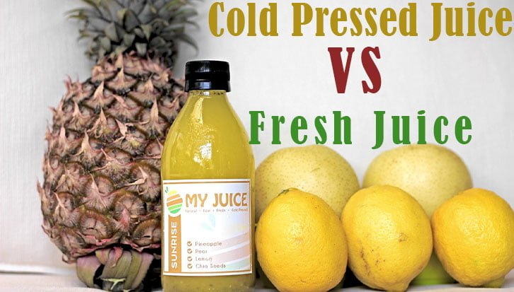 cold-pressed juice vs fresh juice