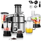COSTWAY Electric 5-in-1 Professional Food Processor and Juicer Combo