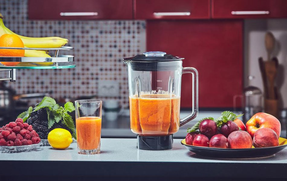 Making smoothie with blender