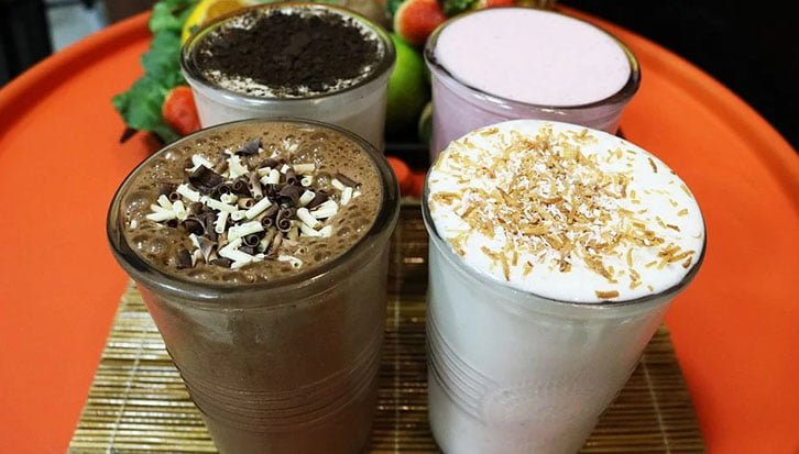 chocolate milkshake milk